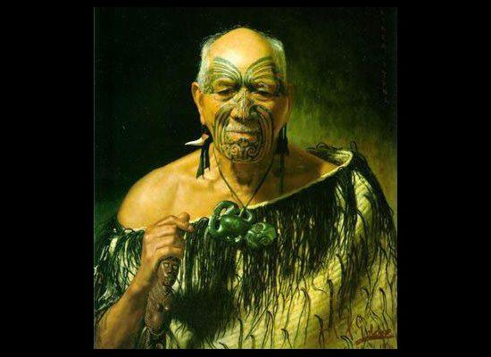Goldie Painting of Maori Warrior