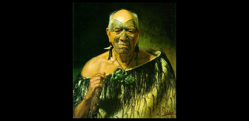 Goldie Painting of Maori Warrior